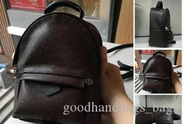 Fashion mini backpacks online shopping - TOP PU hot Hight quality men s Famous designers handbags canvas backpack women s school bag F1 Brown Backpack Style backpacks brands G