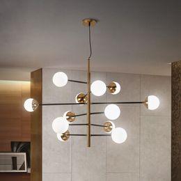 Loft Pipe Australia - Nordic Minimalist Led Molecule Chandelier Loft Designer Glass Ball Kitchen Coffee Shop Led Hanging Light Fixtures Free Shipping
