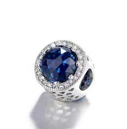 2cf048f15542 Estrella de mar Sky Opal Glaze Dangle Charm 925 plata esterlina encantos  flotantes europeos con el esmalte azul Fit Pandora pulsera DIY joyería W74