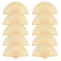 $enCountryForm.capitalKeyWord Australia - Chinese Sandalwood Scented Wooden Openwork Personal Hand Held Folding Fans for Wedding Decoration, Birthdays, Home Gifts (50 Pack)