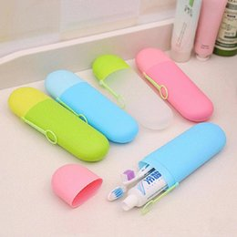 Wholesale Travel Portable Toothbrush Box Toothpaste Holder Cup Wash Toothbrush Cartridge Protector Sleeve Box Bathroom