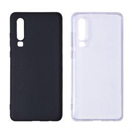 Опт Высококачественный прозрачный корпус из ТПУ, черный белый чехол для телефона Bayer 2407, материал для нового устройства Huawei P20 / 20 Pro 2019 с отверстиями