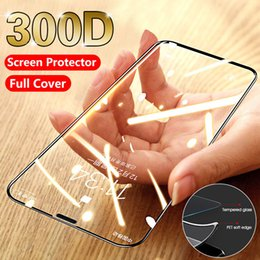 mirror screen protectors UK - Soft side Full Curved Tempered Glass on The For iPhone 11 Pro 7 6 8 Plus Screen Protector Protective Glass on iPhone XR X XS MAX