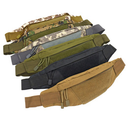 handbag tactical NZ - Tactical camouflage bag Leisure outdoor pocket Mini pocket Student Bulk Bag Fashion picnic bag Canvas Handbag Recreational Running Mobile Ha