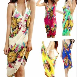 $enCountryForm.capitalKeyWord Australia - 2019 New Style Mesh Cover-Ups Women Bathing Suit Floral Strap Swimwear Ladies Beach Dress Sarong Wrap Sexy Summer Cover Up