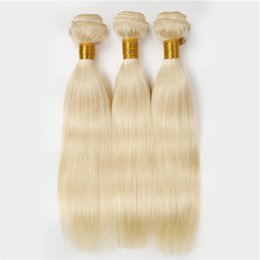 34 inch russian blonde hair UK - 100% Unprocessed Malaysian Blonde Straight Virgin Hair 3pcs Lot Cheap Malaysian Virgin Hair Weave 613 Blonde Raw Virgin Hair Wholesale Price