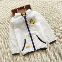 Top condiTion online shopping - New children s summer sun protection air conditioning thin coat Boys and girls cartoon UV protection tops Kids clothes