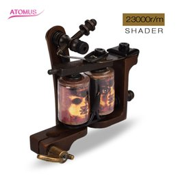 Wholesale Coil Tattoo Machine Wraps Professional Shader Body Art r m Skeletons Tattoo Shader Body Art Fitting