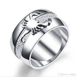 $enCountryForm.capitalKeyWord Australia - Hot Sale 316L Silver Frosted Scorpion Rings For Men 2019 New Titanium Male Jewelry Finger Rings Accessories