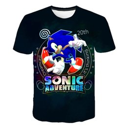$enCountryForm.capitalKeyWord Australia - Children Sonic The Hedgehog Boys Girls Tops Tees Cartoon Design Funny T-Shirts Kids Summer Casual Clothes For Toddler