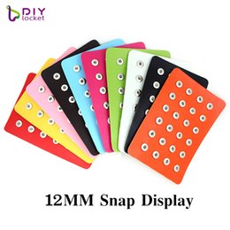 snap button displays NZ - 12MM 24PCS Leather Snap Button Display For Diy Jewelry Displays Holder LSPB12MM01