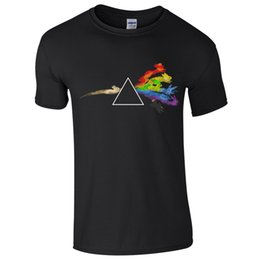 Triangle Color Cartoon UK - Cartoon Eevees Characters T-Shirt Evolution Dark Prism Side Triangle Rainbow Funny free shipping Unisex Casual Tshirt