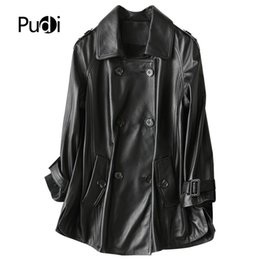 Genuine Motorcycle Jackets Australia - PUDI A69053 2019 New women genuine sheep leather coat lady leather Leisure Motorcycle Jacket fall winter coat