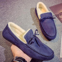 $enCountryForm.capitalKeyWord Australia - Winter Warm Plush Shoes Suede Tassel Loafers Boots Men Slip On Casual Shoes Height Increase Mens Flat Loafer Mocassin Homme Blue