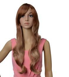 Hot Ladies Long Hair UK - WIG LL W holesale price Hot Sell TSC^^^ Lady LOLITA Wig Brown Gradient Long Wavy Hair Cosplay Costume Full Wig