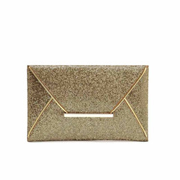China New Design Fashion Evening Bags Party Clutch Hand Bags Purses Female PU Sequined Hasp Envelop Women Small Handbags supplier black envelop suppliers