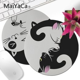$enCountryForm.capitalKeyWord NZ - MaiYaCa boy gift pad cute Yin Yang cat black and white Laptop Computer game gaming Mouse pad Decorate Your Desk mouse anime