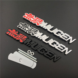 mugen stickers Australia - Replaced Car Auto 3D Emblem Badge Sticker Chrome Zinc Alloy For Honda MUGEN CIVIC,ACCORDA