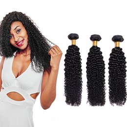 $enCountryForm.capitalKeyWord Australia - Afro Kinky Curly Hair Style Natural Color Brazilian Hair Weave Bundles 8-26inch Kinky Curly Hair Extensions