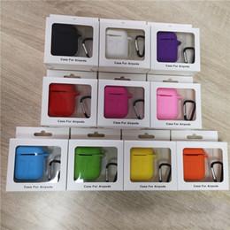 Para apple airpods casos de silicone ultra fino protetor airpod capa earpod case anti-queda com gancho caixa de varejo venda por atacado