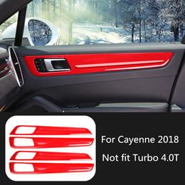 $enCountryForm.capitalKeyWord Australia - 4pcs Car Interior Door Panel Styling Moulding Trim for Porsche Cayenne 2018 Decoration Accessories