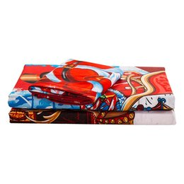 China Santa Claus 3PCs Set Duvet Cover Set Cartoon Christmas Red Bedding Set With Double Bed Includes 1 Quilt Cover 2 Pillows cheap jacquard duvet covers suppliers