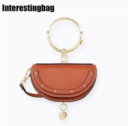 Gold Pink Rings For Women Australia - INTERESTINGBAG Crossbody Bag For Women,Luxury Handbags Women Bags Designer 2019 Fashion Ring Half Moon Messenger Shoulder Bags #201293