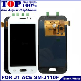 SamSung galaxy ace diSplay online shopping - Can Adjust Brightness LCD For Samsung Galaxy J1 Ace J110 SM J110F J110H LCD Display Touch Screen Digitizer Assembly Replacement