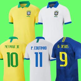 57f7addcd brazil 2019 camisa de futebol copa américa brasil camiseta de COUTINHO  FIRMINO JESUS camisa de futebol PAQUETA MARCELO 2018 camisa de futebol