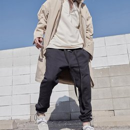 Wholesale loose jersey for sale - Group buy 19SS FEAR OF GOD TH Loopback Cotton Jersey Track Pants Fashion Skateboard Men Women Casual Trousers Sport Breathable Sweatpants