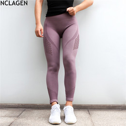 Hole Leggings Hollow Australia - Nclagen Women Squat Proof Hole Hollow Out Booty Sexy Slim Capris Spandex Fitness Workout Pant Butt Lifting Yogaing Gyms Leggings Q190509