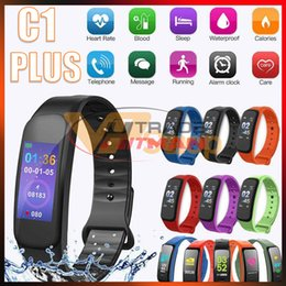 $enCountryForm.capitalKeyWord Australia - C1 Plus Smart Bracelet Band Fitness Tracker Color Screen Waterproof Heart Rate Monitor Smartband Wristband for IOS Android Phone