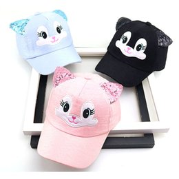 Wholesale Baby hats cute Cartoon child Korean cat baseball caps Spring new summer Baby boy girl sun Hats beanies kids photography props