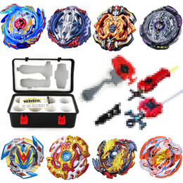 spare parts box Australia - beyblade set BB52(more than 20 spare parts + 8 beyblades +1handles +2 launchers + beyblade box )as children birthday gift