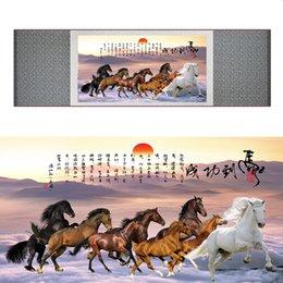 $enCountryForm.capitalKeyWord Australia - Top Quality Chinese Horse Be Painting Horse Art Painting Silk Scroll Art Painting Eight Horse Painting19062809
