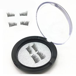 wholesale eyelashes transparent NZ - 3D Magnetic False Eyelash Magnet False Eyelashes High Quality Lashes Reusable False Magnet Cilios Postico