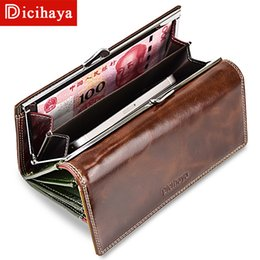 $enCountryForm.capitalKeyWord Australia - Dicihaya Wax Oil Leather Women Wallet Color Leather Lining Purse Brand Design Clutch Money Bag Ladies Coins Holder A150-9112MX190824