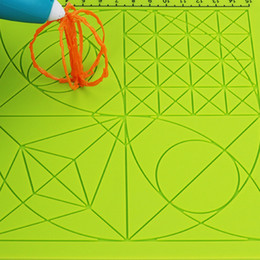 Pen Boards UK - Tools Children Green Drawing Board 3D Pen Accessory With 2 Finger Caps Silicone Mat Kids Educational Template