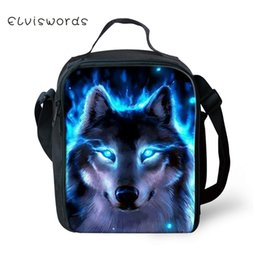 lunch bags boys Australia - ELVISWORDS Kids Insulated Lunch Bag Fantasy Wolf Pattern Toddler Boys Waterproof Lunch Box Students Cute Picnic Snacks Container
