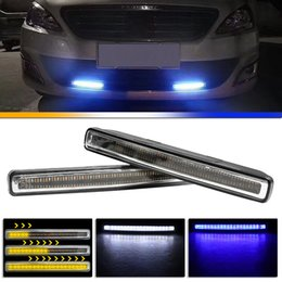 lamp holder 12v UK - 2Pcs Universal LED DRL Fog Driving Daylight Waterproof Daytime Running White Holder Base Flowing LED Fog Lamp for Car