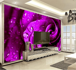 Decorative Printed Wallpaper NZ - Cheap 3d Wallpaper Beautiful roses are beautifully placed Digital Printing HD Decorative Wallpaper Beautiful Wall paper