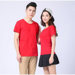 $enCountryForm.capitalKeyWord Australia - Class clothing men's solid color T-shirt cotton culture advertising shirt custom blank round neck short-sleeved overalls printed logo T-112