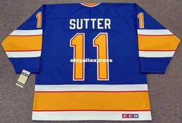 $enCountryForm.capitalKeyWord Australia - custom Mens BRIAN SUTTER St. Louis Blues 1987 CCM Jerseys Vintage Cheap Retro Hockey Jersey
