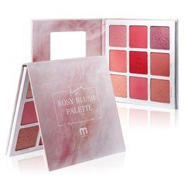 $enCountryForm.capitalKeyWord Australia - Big Size Makeup Blush Powder Palette V Face 9-color Highlighter Rouge Matte Long-lasting Cheek Make up Facial Blusher Contour