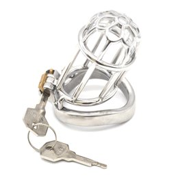 Sex Game Device Bondage Australia - Male Chastity Cage Penis Cock Ring for Adult Games Cock Cages Bondage Chastity Devices Penis Cage Sex Toys for Man G7-247A