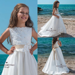 5df4f4368a PurPle summer dresses for toddlers online shopping - Adorable White Flower  Girl Dresses For Summer Western