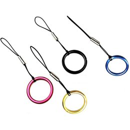 $enCountryForm.capitalKeyWord Australia - Ring Buckle Finger Circle Cell Phone Lanyard Charms Straps For Apple iPhone 7 8 XS plus Mobile Card Set Sling Camera Hanging Rope