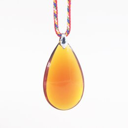 thailand necklaces Australia - New arrival tear drop amber zen buddhist necklace with rope chain for Thailand monkey crystal pendant