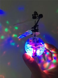 $enCountryForm.capitalKeyWord NZ - Kids' Gift RC Flying Ball RC Infrared Induction Helicopter Ball Built-in Shinning LED Lighting for Kids Teenagers Colorful Flying Toys EMS