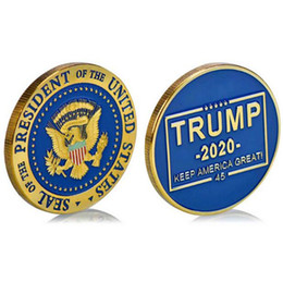 imitation gold coins NZ - 2020 President Donald Trump Gold Plated Coin - Make Liberals Cry Again Commemorative Coins Badge Token Craft Collection